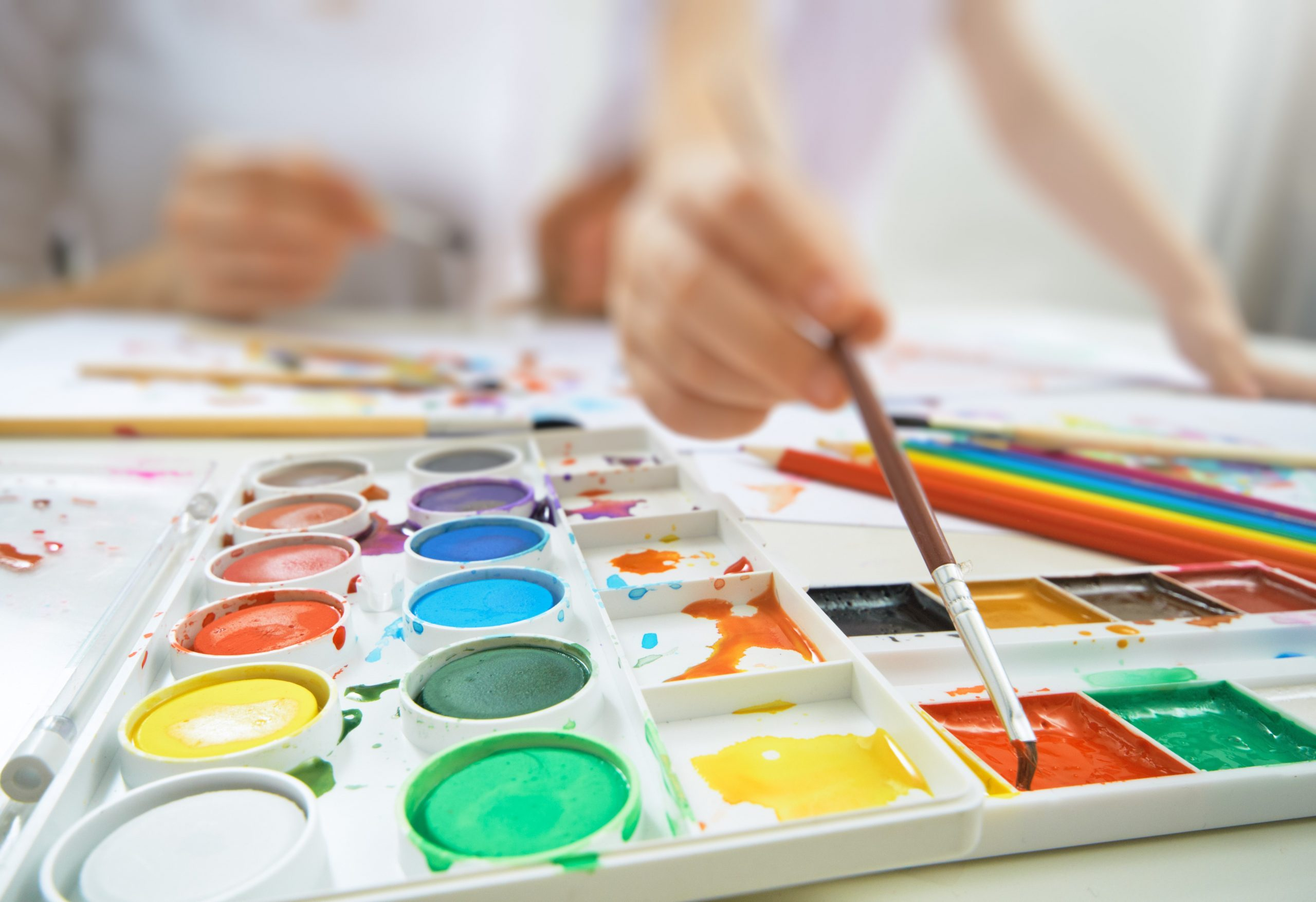 Watercolour painting art therapy